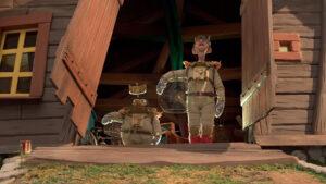 Bjergkøbing rejser til månen. Animationsfilm.